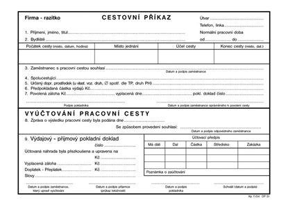 Obrázek Cestovní příkaz Optys - A5 / 100 listů / 1051