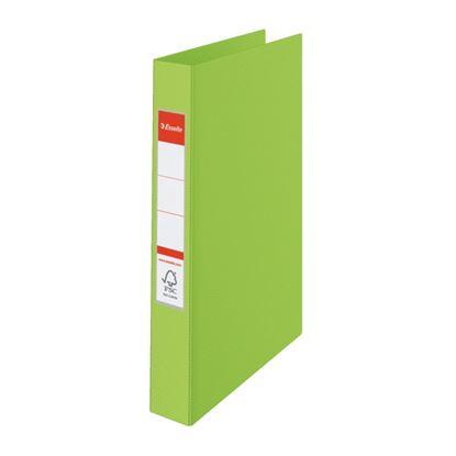 Obrázek Pořadač A4 kroužkový celoplastový - 4 - kroužek / zelená