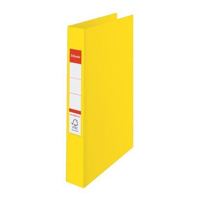 Obrázek Esselte pořadač A4 kroužkový celoplastový 4,2 cm 4-kroužek žlutá