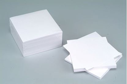 Obrázek Záznamní kostky bílé - 9,5 cm x 9,5 cm x 7 cm / nelepená vazba