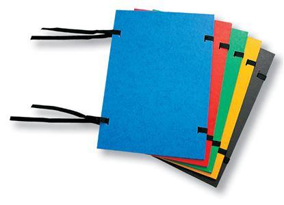 Obrázek Spisové desky s tkanicí prešpánové - červená