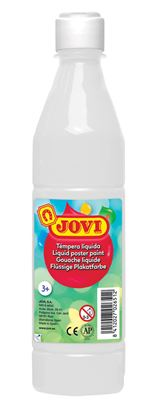 Obrázek Tekuté temperové barvy JOVI v lahvi -  500 ml / bílá