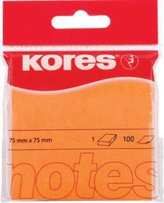 Obrázek Samolepicí bloček Kores neon - oranžová