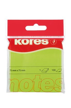 Obrázek Samolepicí bloček Kores neon - zelená