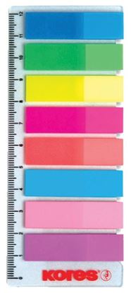 Obrázek Samolepicí záložky Kores Index Strips - 8 x 15 lístků / průhledné