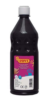 Obrázek Prstové barvy JOVI v láhvi - 750 ml / černá