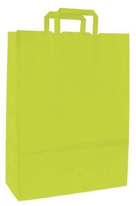 Obrázek Taška papírová barevná -  230 x 100 x 320 mm / zeleno - žlutá