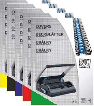 Obrázek Desky pro kroužkovou vazbu zadní strana  -  A4 / modrá / 100 ks