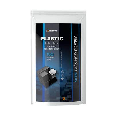 Obrázek Čistící kapesníky Clenium -  100 ks / na plasty / náhradní náplň