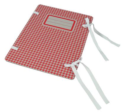 Obrázek Spisové desky Emba s tkanicí s potiskem - červená