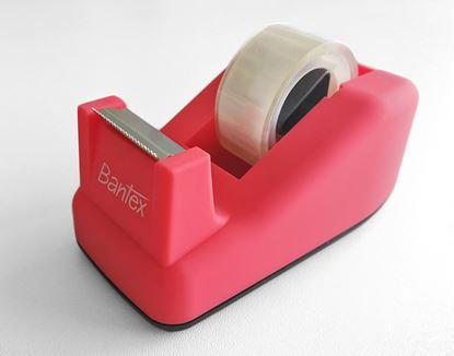 Obrázek Stolní odvíječ lepicí pásky Bantex - růžová