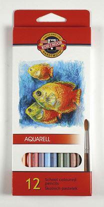 Obrázek Pastelky aquarelové Mondeluz - 12 barev
