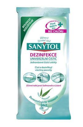 Obrázek Sanytol ubrousky -  proti prachu / dezinfekční / 2 x 24 ks