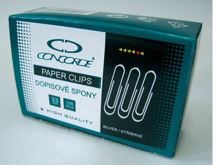 Obrázek Dopisní spony CONCORDE - 33 mm / 100 ks