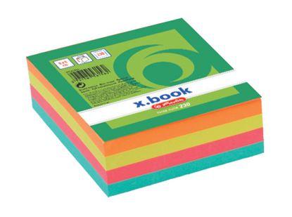Obrázek Záznamní kostky barevné Herlitz - 8 cm x 8 cm x 3 cm / 230 lístků / lepená vazba