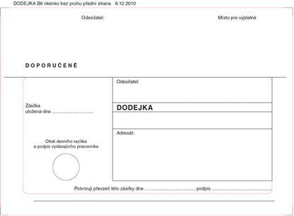Obrázek Obálky B6 s dodejkou samopropisovací - bílá / 1000 ks