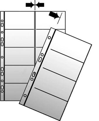 Obrázek Náhradní obal do kroužkových vizitkářů  -  náhradní kapsy A5 / 10 ks