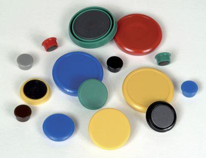 Obrázek Magnety - průměr 24 mm/ žluté/ 10 ks