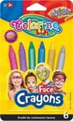 Obrázek Obličejové barvy Colorino -  6 ks / metalické