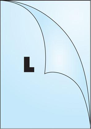 Obrázek Zakládací obal A4 silný - tvar L čirý / 180 my - extra silné / 100 ks