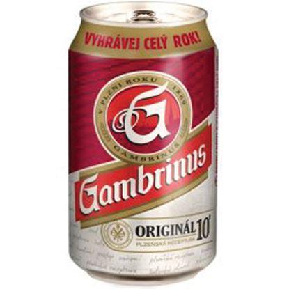 Obrázek Pivo - Gambrinus 10 % / v plechovce / 0,33 l