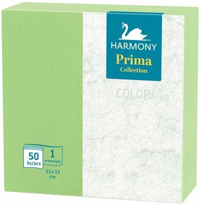 Obrázek Ubrousky papírové barevné Harmony Color - 33 cm x 33 cm / zelená / 50 ks