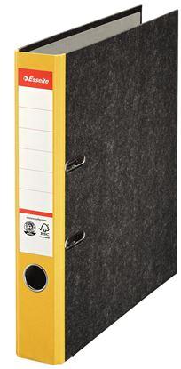 Obrázek Pořadač A4 pákový papírový s barevným hřbetem - hřbet 5 cm / žlutá / 36060