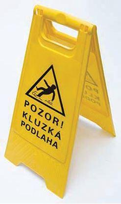 Obrázek Výstražná cedule - 60 x 30 cm / POZOR KLUZKÁ PODLAHA