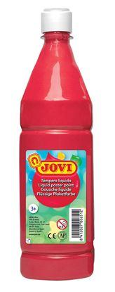 Obrázek Tekuté temperové barvy JOVI v lahvi - 1000 ml / červená