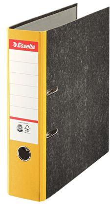 Obrázek Esselte pákový pořadač A4 papírový s barevným hřbetem 7,5 cm žlutá