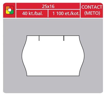 Obrázek Etikety do etiketovacích kleští - 25 x 16 mm Contact / bílá