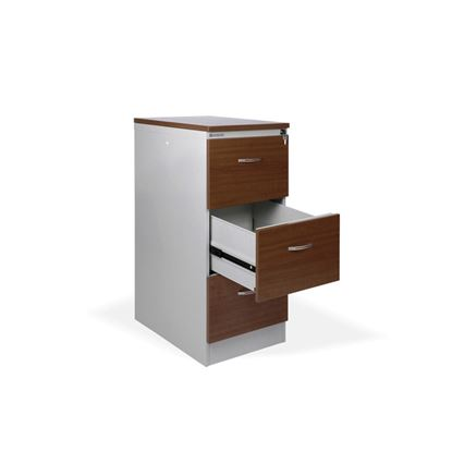 Obrázek Kartotéky kovové / čelo ze dřeva - RGD 13 CE / 3 zásuvky