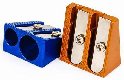 Obrázek Ořezávátko kovové - dvojité / barevný mix
