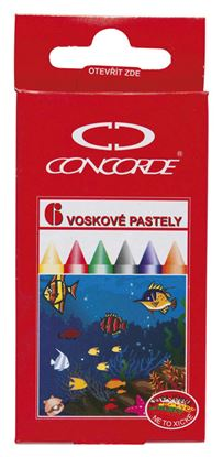 Obrázek Pastelky voskové Concorde -  6 barev