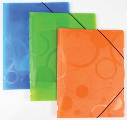 Obrázek Spisové desky A4 s gumou NeoColori - oranžová