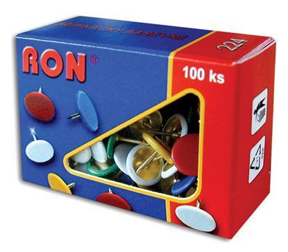 Obrázek Připínáčky barevné RON  -  100 ks / barevný mix