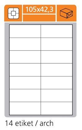 Obrázek Print etikety A4 PLUS pro laserový a inkoustový tisk - 105 x 42,3 mm (14 etiket / arch)