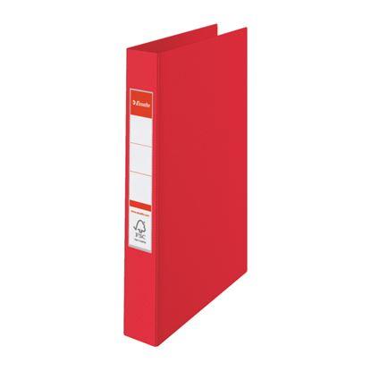 Obrázek Pořadač A4 kroužkový celoplastový - 4 - kroužek / červená