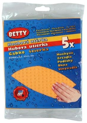 Obrázek Betty utěrka houbová 5 ks