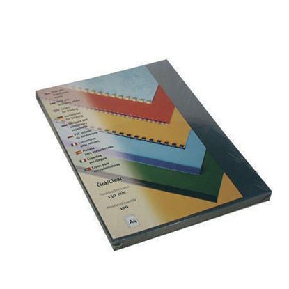 Obrázek Desky pro kroužkovou vazbu přední strana  -  A4 / čirá / 100 ks