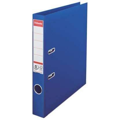 Obrázek Pořadač A4 pákový celoplastový - hřbet 5 cm / modrá / 811450