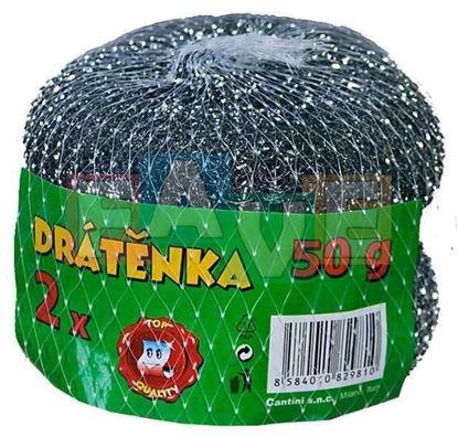 Obrázek Drátěnka kovová - pozinkovaná - 2 ks / 50 g