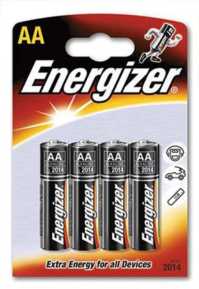 Obrázek Baterie Energizer alkalické - baterie tužková AA / 4 ks
