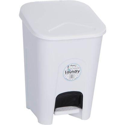 Obrázek Koš na odpadky - 30 x 28,5 x 43 cm/ bílá / 16 litrů