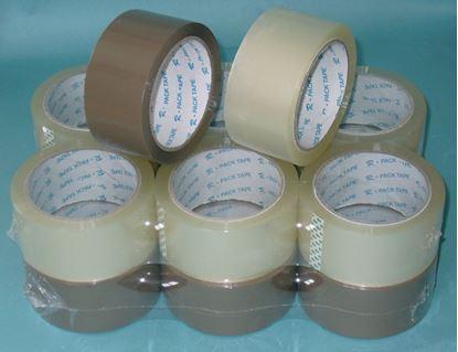 Obrázek Balicí pásky NEHLUČNÉ - 48 mm x 66m / hnědá