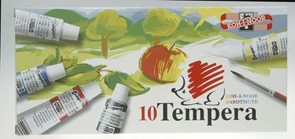 Obrázek Temperové barvy - 10 barev / tuby 16 ml