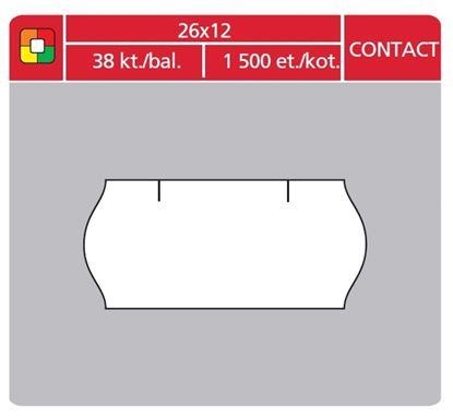 Obrázek Etikety do etiketovacích kleští - 26 x 12 mm Contact / bílá