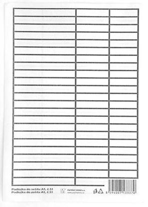 Obrázek Podložky do sešitů papírové + PVC - podložka A5 / linka - linka / papírová