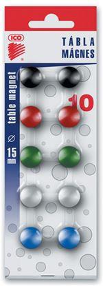 Obrázek Magnety - průměr 15 mm / barevný mix / 10 ks