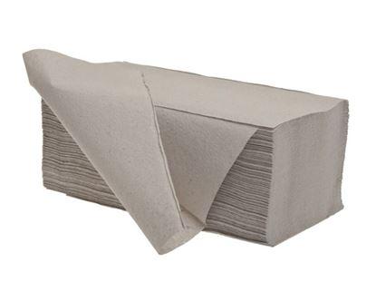 Obrázek Ručníky papírové skládané - ručníky šedé / jednovrstvé / 250 ks